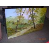 Quadro De Parede Painel Pintura Tela Decoração Paisagem