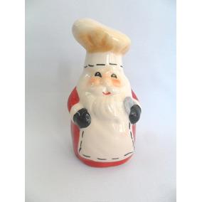 Papai Noel Enfeite De Cozinha Paliteiro Porcelana