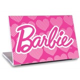 Skin Adesivo Notebook Papel Parede Logo Barbie Skdi1677