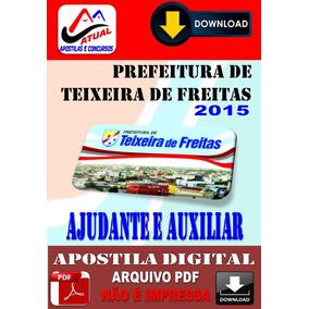 Apostila Prefeitura Teixeira Freitas Ajudante E Auxiliar