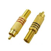 Conector Rca Macho 100% Metal Dorado Precio X Unidad Myp