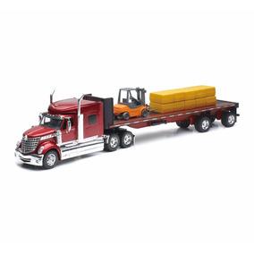El333 1:32 International Lonestar Y Tractor Trailer New Ray