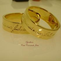 Aliança Votos De Amor Ouro Banho 18k Cód 1828 Promoção