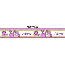 Adesivo Bdfx0009 Nome Borboleta Border Faixa Decorativa Bebe