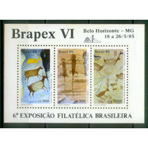 Bloco 69 Novo - Pinturas Rupestres - Brapex Vi - 1985