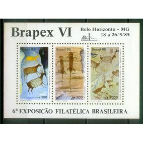 Bloco B-69 - Pinturas Rupestres - Brapex Vi - 1985
