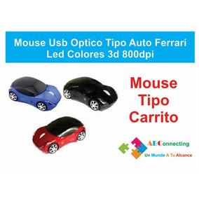 Mouse Usb Optico Tipo Auto Carrera Led Colores 3d 800dpi