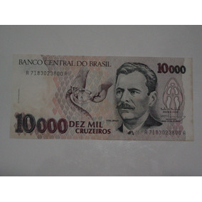 Cédula 10000 Dez Mil Cruzeiros - Vital Brazil