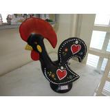 #7368# Galo Português Gigante De Cerâmica!!!