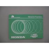 Honda Manual Proprietário Cb 450 83 84 Esport E Custom