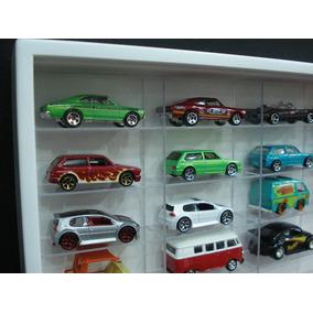 Estante Miniaturas Hot Wheels 100 Nicho Cristal White Marujo