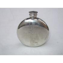 Botella Peltre Pinder Bros. Imagen Pescador Vintage Inglesa