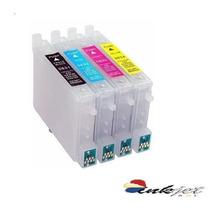 Kit 4 Cartucho Recarregável Cx5600 C92 Cx7300 Cx8300 Cx4900