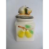 Pote De Louça Decorativo Para Cozinha Motivo De Frutas