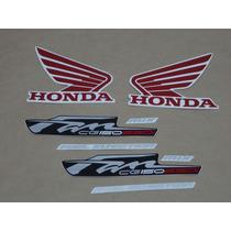 Kit Adesivos Honda Cg Fan 150 Esdi 2012 Preta - Decalx