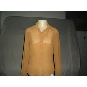 Camisa Casual Tranparente Chiffon M - Usada