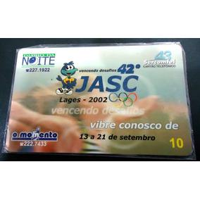 Cartão Telefonico Jasc Sercomtel 10mil 2002 - Raro Recolhido