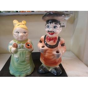 # 084# Porta-colher De Pau Casal De Porcelana!!!