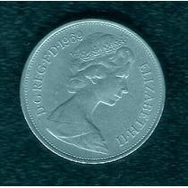 Moeda Inglaterra 10 Pence Elizabeth Ll Níquel 1969