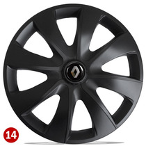 Jogo Calota Aro 14 Esportiv Black Renault Sandero Clio Logan