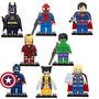 Avengers Marvel 8 Muñecos Simil Lego Superheroes Batman
