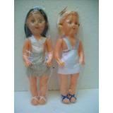 Brinquedo Antigo Bonecas De Plastico Bolha Anos 70 Lotec/2 A