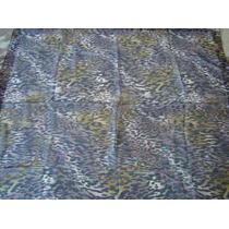Echarpe Lenço Indiano Índia Quadrado Polyester Onça Marrom