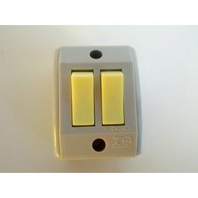 Interruptor 02 Teclas Simples De Sobrepor Pc Com 05 Unidades
