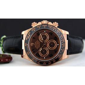Relógio Automático Daytona Chocolate Couro Frete Grátis