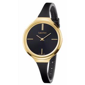 Reloj Calvin Klein K4u235b1 Lively Negro/dorad Dama Original