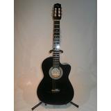 Guitarra Acustica Hecha En Paracho Negra Con Accesorios