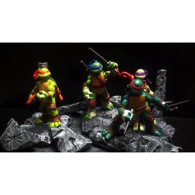 Tartarugas Ninja Ninja Turtles Playmates 4 Bonecos Coleção