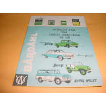 Folder Willys Aero Rural Picape Pickup Jeep Bardahl 4x4