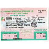 Ingresso Seleções 2003 Irlanda X Canada 18/11
