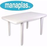 Mesa Plastica Rectangular Manaplas Nuevas