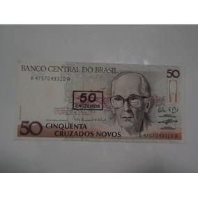 Cédula 50 Cinqüenta Cruzados Novos Carlos Drummond Andrade