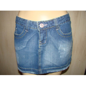 Mini Saia Jeans - Marisa Girls Denin Nº 40