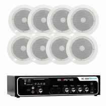 Kit Som Ambiente Borne Rc5000 Bluetooh Usb +8 Arandelas Ar5c