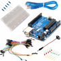 Kit Arduino Uno Proto Cables Led Resistencias Conector Kit14