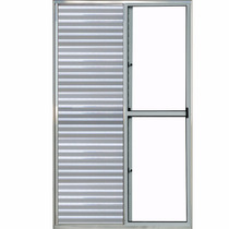 Porta Balcão 3 Folhas De Alumínio Brilhante 2,10 X 1,50