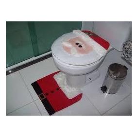 Conjunto De Banheiro 3 Peças Papai Noel Natal Mais Feliz