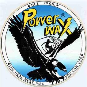 Adesivo Surf Power Wax - Anos 80 - 15cm Diametro