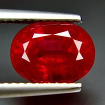 Espetacular Rubi Vermelho Sangue 3,15 Cts.