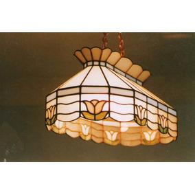 Lámpara Vitral Genuino Estilo Tiffany P/bar-cantina-billar