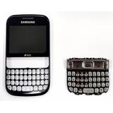 Frontal Celular Samsung Gt-s3332 Azul + Teclado Chumbo Novo