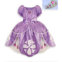 Vestido Festa Fantasia Infantil Princesa Sofia