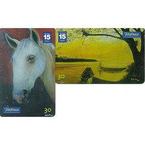 Série Arte Viva - Telefonica Sp- 2 Cartões -frete Grátis