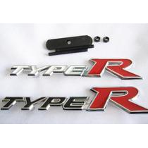 Emblema Type R Para Grade Linha Honda Civic Fit City Hrv