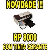 Impressora Hp Pro 8000 Adaptada 3 Cd/dvd Com Bulk E Tintas