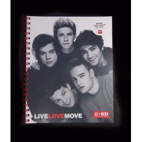Cuaderno Carta One Direction Rojo Cubierta Plastica Padrismo